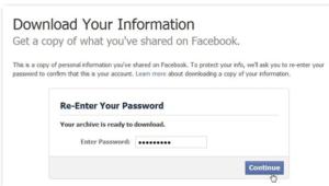 Messages Facebook antérieurs effacés