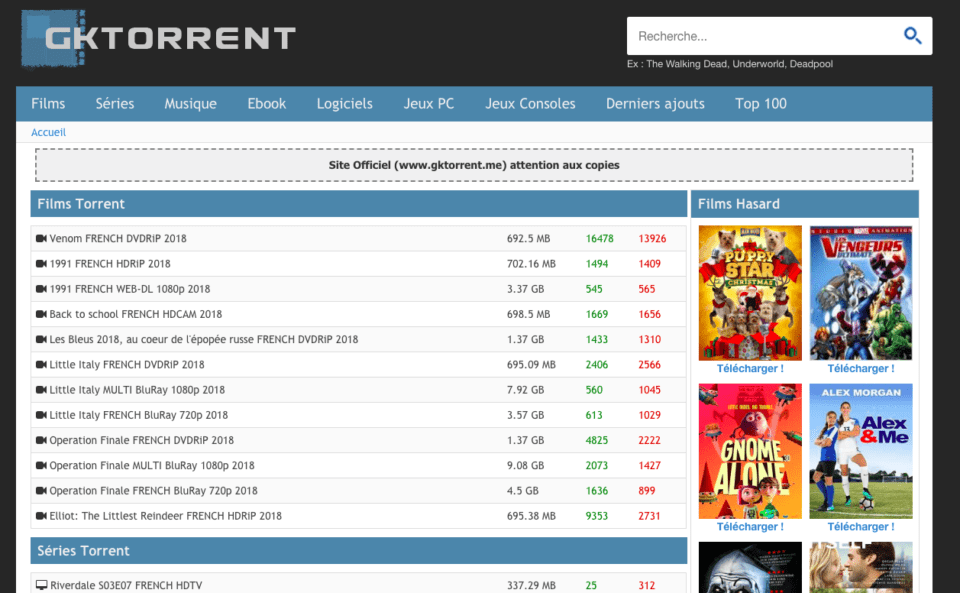 GkTorrent GkTorrent.biz - Télécharger sur GkTorrent Officiel