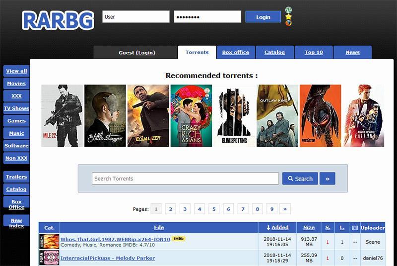 RARBG - Télécharger, des Films, Séries, Musiques, Logiciels, Jeux en Torrent