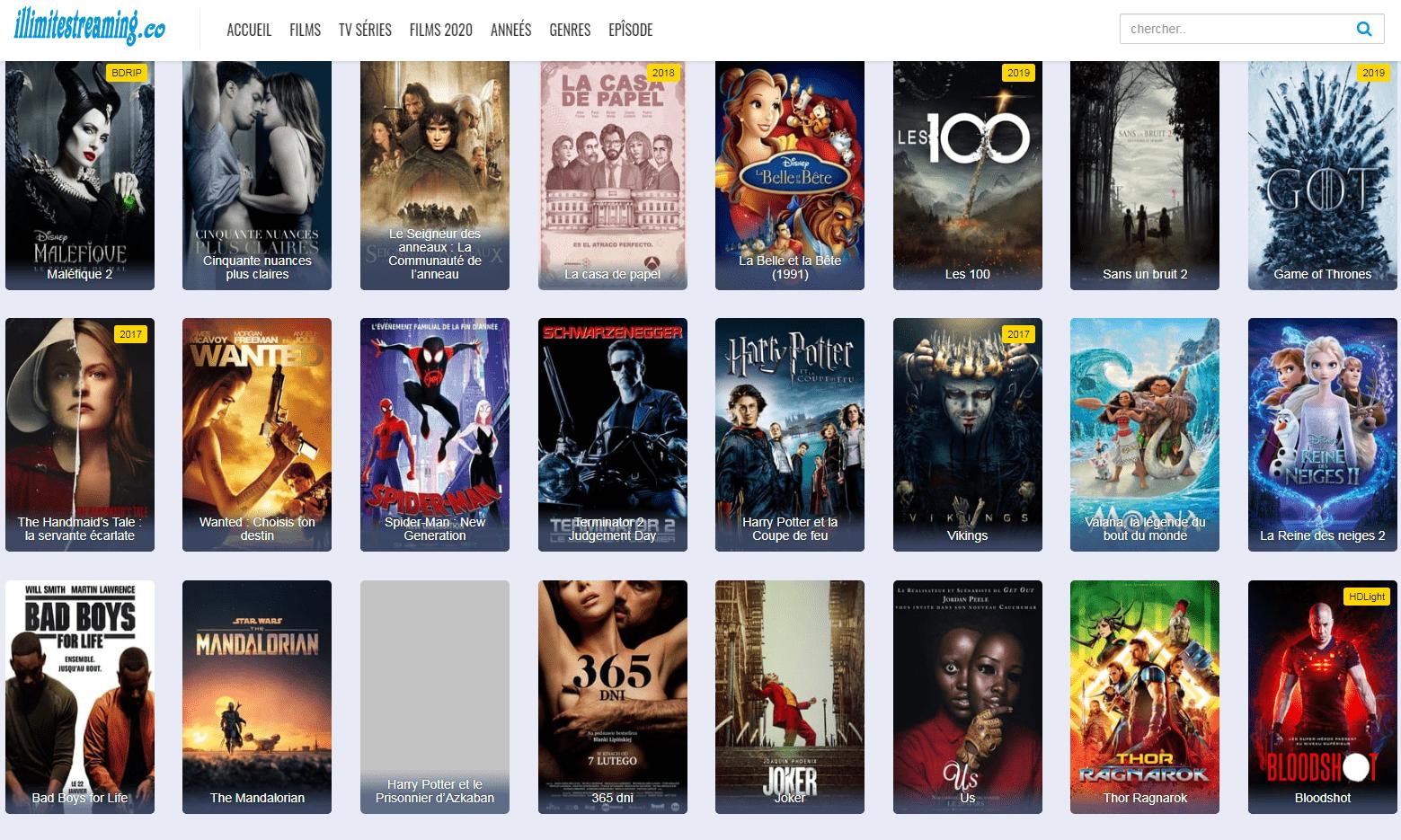 Films en streaming en illimité