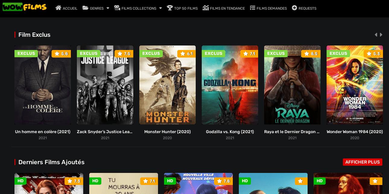 wow films gratuit en streaming vf